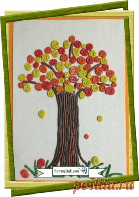 Ծեփանկար «Աշնանային ծառ» Բոլոր երեխաները սիրում են խաղալ պլաստիլինով, ստեղծել տարբեր երևակայական ու իրական պատկերներ։ Իսկ պլաստիլինով նկարե՞լ։ ՀԱՆՐԱԳԻՏԱԿ