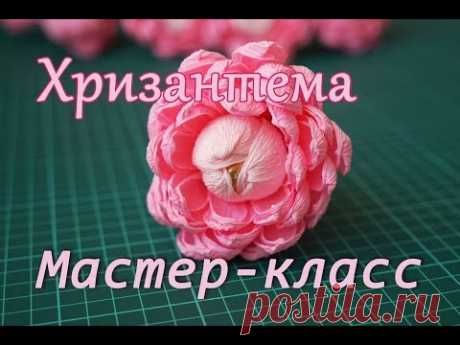 Flower from paper about a candy\/chrysanthemum\/master class