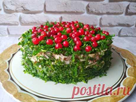 Потрясающий слоеный салат «Сосновый бор» — Кулинарная книга