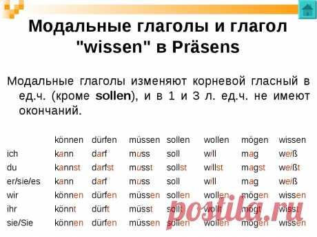 немецкий-что такое модальные глаголы - 3 522 картинки. Поиск Mail.Ru