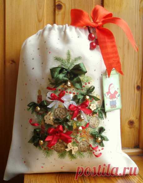 Мешочки для новогодних подарков.
