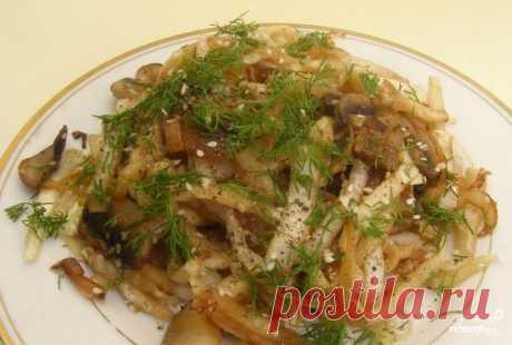 Салат с пекинской капустой и свежими грибами - пошаговый рецепт с фото на Повар.ру