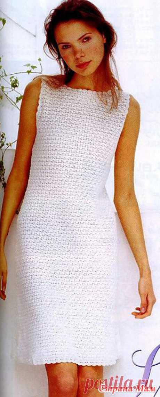 . Лаконичная классика. Маленькое платье плотным узором. - Все в ажуре... (вязание крючком) - Страна Мам