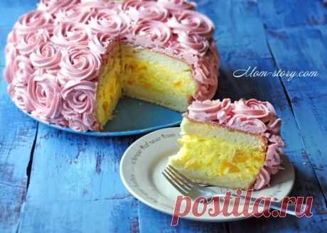 La torta de melocotón la Muselina de seda - Mom Story