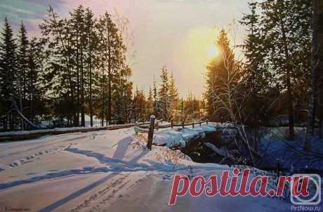Зимние пейзажи художника Самохвалова Александра Порфирьевича