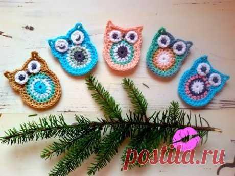 Сова крючком//Owl crochet//Вязание крючком для начинающих