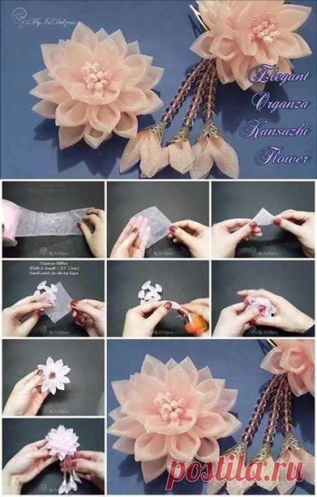 Цветы из ткани своими руками: мастер-класс