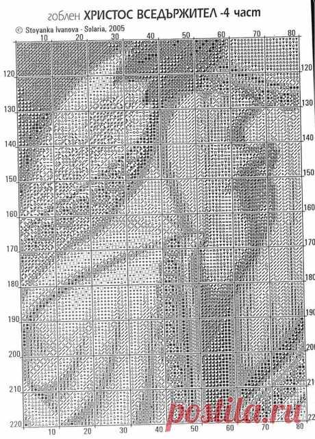 Ч4 Господь Вседержатель. Схема для вышивки крестиком бисером