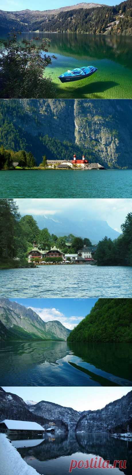 Кёнигзее - самое чистое озеро Германии