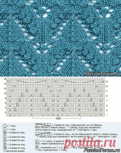 Узор «Триады» - запись пользователя Тамара Сергеевна (Тома) в сообществе Вязание спицами в категории Вязание спицами для начинающих
