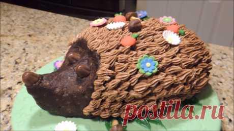 Оригинальный тортик для детей «Ежик»