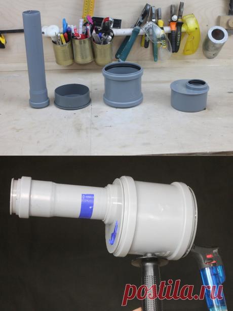 Мощная многоразовая хлопушка на новый год из канализационной трубы своими руками в домашних условиях | Генератор идей | Яндекс Дзен