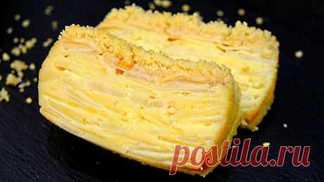 """Такого еще не было. Тесто при выпечке превращается в крем. Французский пирог """"Невидимый""""   Ленивая хозяйка. Кухонные эссе   Яндекс Дзен"""