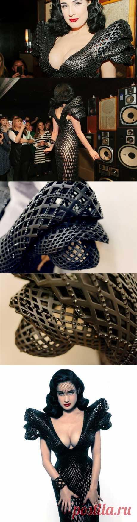 Дита фон Тиз примерила платье из будущего