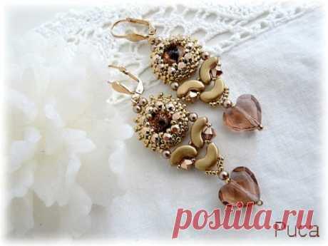 Boucles d'oreilles en perles Arcos® et perles Swarovski par Puca® - Perles & Co
