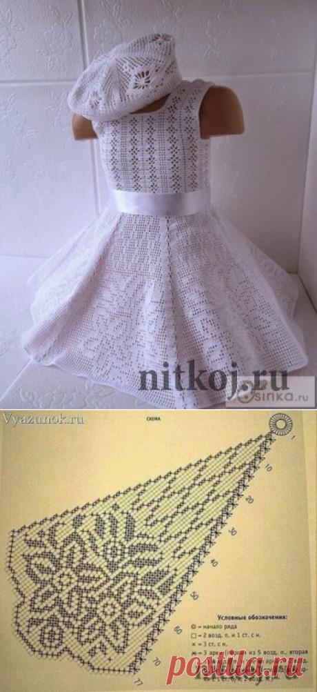 платье для девочки крючком годеция крючок детям платья постила