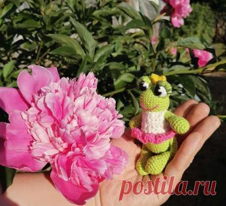 бесплатный мастер-класс принцесса -лягушка .коллекция яйцо-сюрприз. мини амигуруми крючком