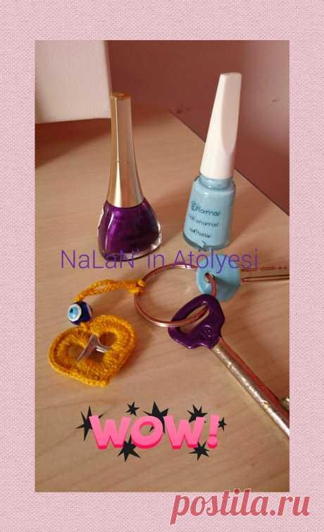 NaLaN'ın Dünyası  #nlndnys #diy: 💜NaLaN'ın ATÖLYESİ💜 Anahtarlarımızı Süsledik Oje ile...