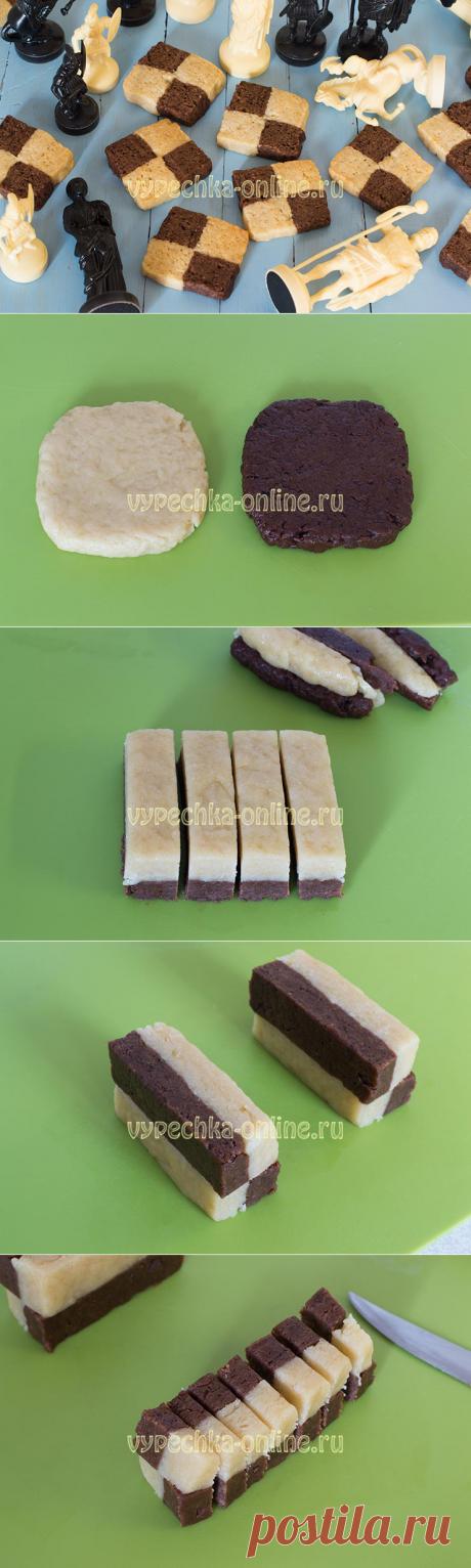 ✔️Шахматное печенье – постный рецепт своими руками без формочек