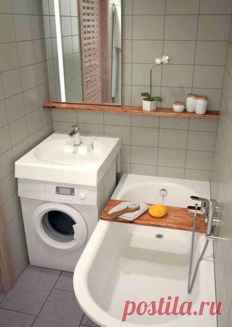 15 удачных идей для маленькой ванной комнаты