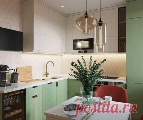 Одна и та же кухня в двух разных цветовых вариациях – поразительно, как цвет меняет интерьер | Oikodomeo | Яндекс Дзен