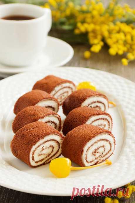 Шоколадные блинчики с начинкой