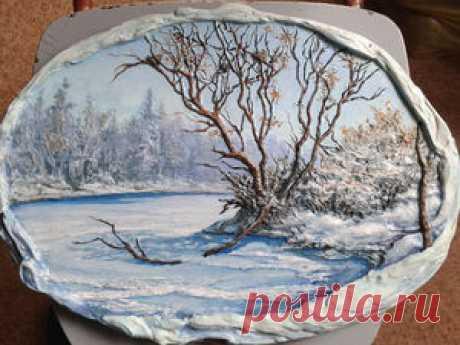 Делаем барельеф «Весенний пейзаж» - Ярмарка Мастеров - ручная работа, handmade