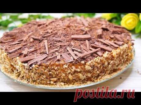 Торт без Выпечки в духовке за 7 минут и Без печенья и желатина