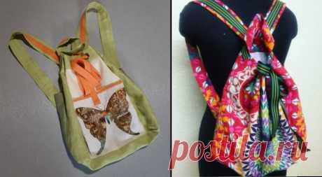 Мастер класс по пошиву рюкзака из текстиля.