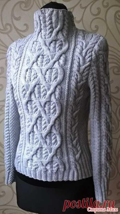 Влюбленный Шекспир-свитер спицами от Carol Sunday - Вязание - Страна Мам