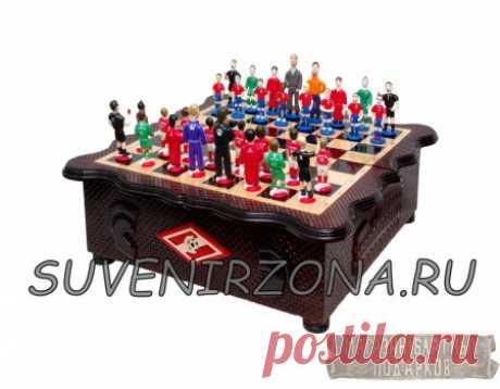 """Купить шахматный набор """"Футбол"""" с фигурами из хлеба"""