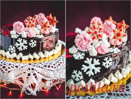 Шоколадно-цитрусовый рождественский торт со специями • Жизнь - вкусная! Кулинарный сайт Галины Артеменко Этот рождественский торт - концентрированная зима в комбинации шоколада с цитрусовыми, сдобренная еще и отличной порцией специй!