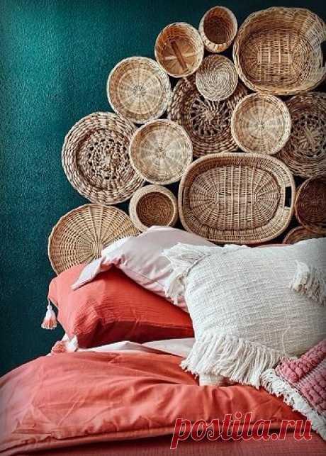 На чём можно грамотно сэкономить при обустройстве своей спальни? 5 крутых идей для изголовья   Décor and Design   Яндекс Дзен