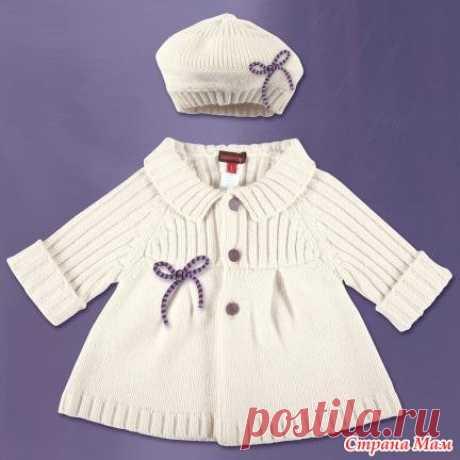 пальто детское белое