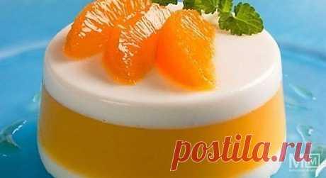 Десерт апельсиновый - очень легкий!.