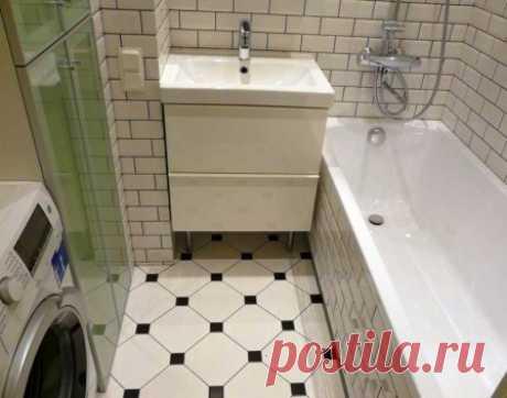 Оптимизация пространства в маленькой ванной комнате #маленькаяваннаякомната #дизайнинтерьера #интерьерванны