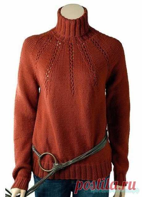 Женский свитер спицами. — Красивое вязание