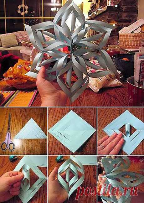 Make A Giant 3-D Snowflake | DIY Cozy Home