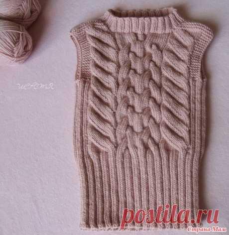 Удлиненная жилетка-туника + описание - Вязание - Страна Мам
