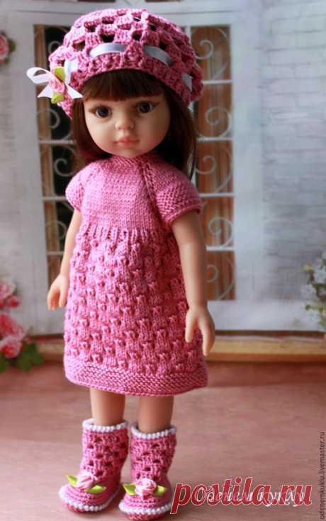 """Купить Комплект """"Чайная роза"""" для Паолки, Минуш - розовый, платье для куклы, для паолки, паола рейна"""