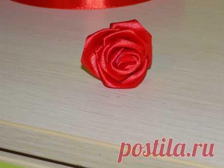 Как сделать розу из ленты 2, 5 см. Мастер класс с фото пошагово. | Радость Творчества | Яндекс Дзен