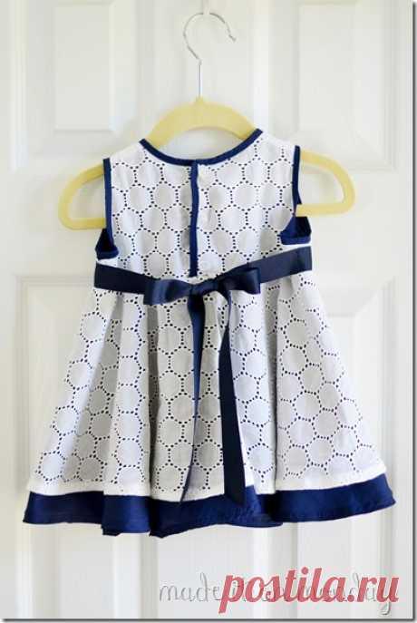 Как сшить платье с юбкой-солнце для девочки