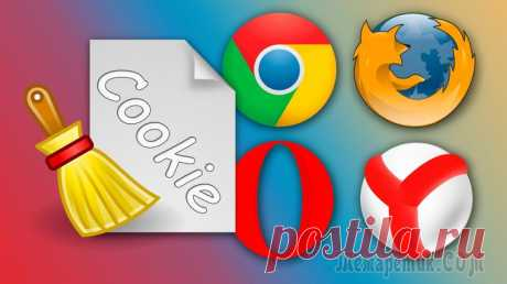 Как очистить куки в Google Chrome, Yandex браузер, FireFox, Opera