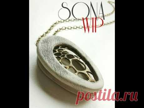 Polymer Clay Tutorial ''Embroidery''+''Double Pendant''  2 in 1