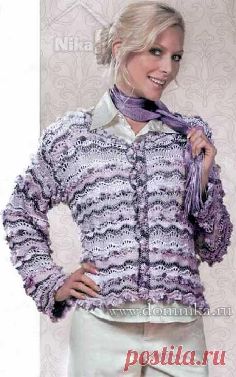 Красивый вязаный жакет для женщин