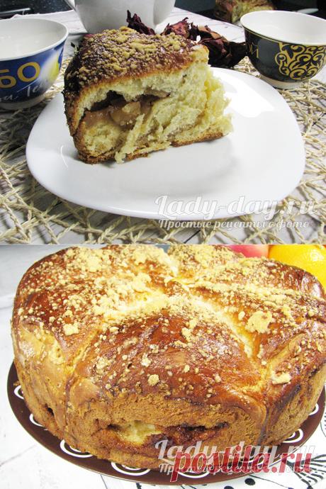 Яблочный пирог из дрожжевого теста, рецепт с фото пошагово в духовке | Простые рецепты с фото