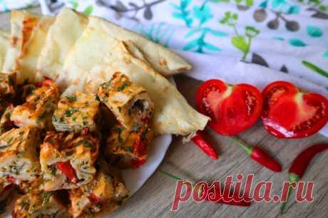 2 закуски из лаваша. Быстро, вкусно и просто! — Кулинарная книга - рецепты с фото