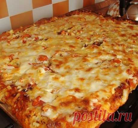 Быстрая и вкуснейшая домашняя пицца