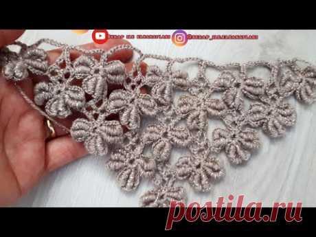 Kurtcuklu yonca gelin şalı #crochet #tejido #etol #tutorial #stich #handmade #knitting