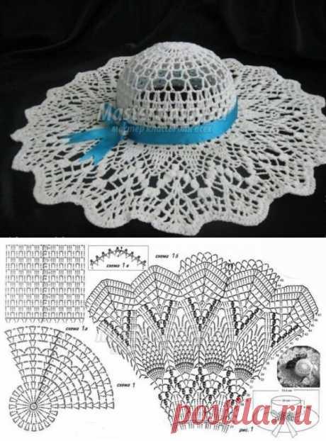 Летние шляпы вязанные крючком. Идеи и схемы | Натали Ж | Яндекс Дзен